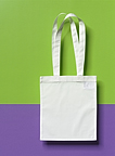 Small tote bag with long handles.